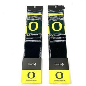 NWT 2-Pair Stance Oregon Ducks Crew Socks Men L